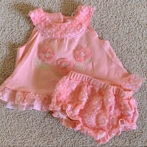 6/9m Pink Ruffle Outfit